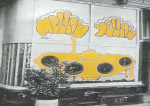 Coffeeshop Mellow Yellow in 1972