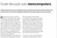 Oude discussie over stemcomputers