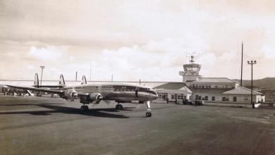 KLM_L-1049C_Constellation_at_Santa_Maria_(Azores)