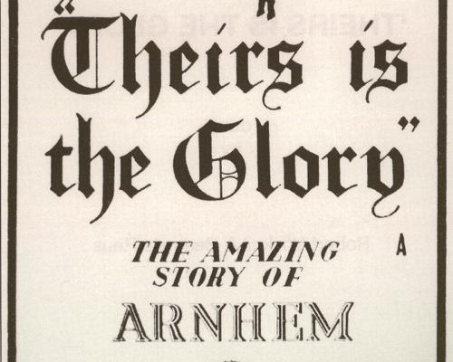 Andere Tijden 11 september 2008 Theirs is the Glory andere poster